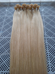 """Wholesale 100g 1g s Indian remy Nail U tip hair extensions 18"""" 20"""" 22"""" 24"""" 26"""" 60# platinum blonde DHL free shipping"""