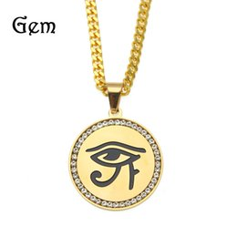 Gold horus pendant online shopping eye horus gold pendant for sale hiphop freemason eye of horus pendant necklaces men gold plated shield pendants hip hop jewelry cool party accessories mozeypictures Images