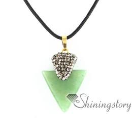 Semi Pendant Australia - triangle birthstone jewellery birthstone necklace charms birthstone pendant necklace semi precious stone pendants agate semi precious stone