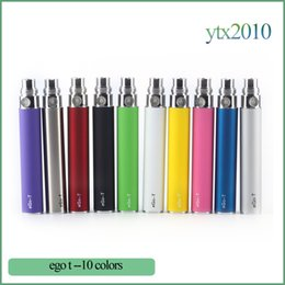 E cig battEriEs wholEsalE online shopping - Ego T Battery For Electronic Cigarettes E cig mah mah mah for Thread Ce4 Ce5 MT3 H2 Blister case or Zipper kit