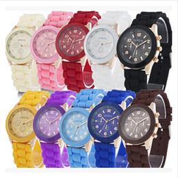 $enCountryForm.capitalKeyWord Canada - 2017 Colorful Sports Silicone Jelly Watches Candy Color Geneva Watch Unisex Women Men Hot Sale Analog Quartz Wristwatches