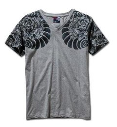 China Mens Graphic Tee Short Sleeve T-Shirts Japan Ukiyoe Tattoo Art Design Slim Fitted Dragon Pattern Print T Shirt cheap slim fit mens tees suppliers