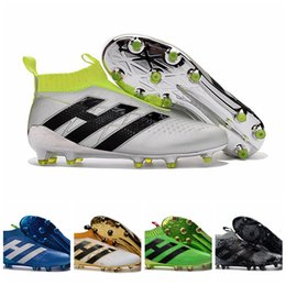 Barato Carregadores Baratos Das Meninas Dos Miúdos-Youth Ace 16+ purecontrol botas de futebol Pure Control Football Shoes Kid Soccer Cleats Boots Cheap Original Quality Boy Girl novo Football Shoe