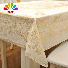 TLFE Europe Plastic Gold Wedding Party Tablecloth Rectangular Table Cloth  Cover Rectangular Homeu0026Garden Toalhas De Mesa ZB009