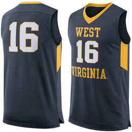 b90f59d2d7a 2017 virginia mountaineers jersey NO.16 West Virginia Mountaineers Men  College Basketball Mens Ohio State Buckeyes Customized ...
