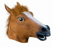 $enCountryForm.capitalKeyWord UK - Novelty Creepy Horse Halloween Head latex Rubber Costume Theater Prop Party Mask Offering Discounts silicone mask