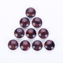Chinese  Natural Red Tiger Eye Gemstone go game beads double sides convex bead Chinese Chess beads manufacturers