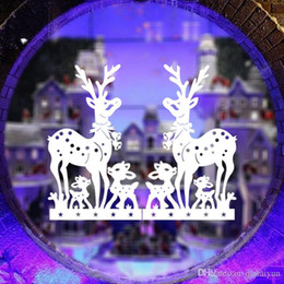 Christmas Removable Window Stickers Canada - Free DHL Home decoration wall decals Christmas decorations Window Stickers mural wall stickers home decor wallpaper LA72-4