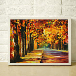 $enCountryForm.capitalKeyWord Canada - In late autumn 100% Hand painted thick oil palette knife painting high quality home decorative canvas paintings JL198