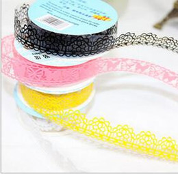 $enCountryForm.capitalKeyWord Canada - C18 hot -selling 50pcs lot New Openwork Style Lace Tape DIY Lace Stickers Decor Stationery Gift Decoration free shipping