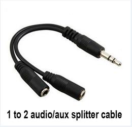 Venta al por mayor de Cable de conversión de audio caliente 3.5mm macho a hembra Cable de adaptador de audio divisor de auriculares Jack al por mayor