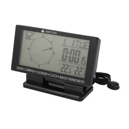 China CD60 Auto Double display digital  pointer display ,Digital Car Compass with Thermometer & Clock, Calendar free shipping supplier ship clocks suppliers