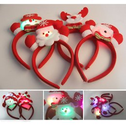 Fancy Hair Clips Wholesale Canada - Christmas LED Flash Light Emitting Hairpin Bow Hair Bands Flash LED Hair Clip Hair Bands Flash Hairpin Headband Fancy Festival Party Access