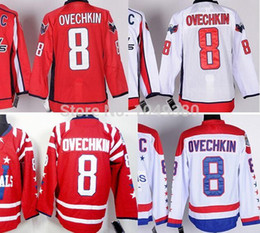 $enCountryForm.capitalKeyWord Canada - Wholesale Washington Ice Hockey Jerseys #8 Alex Ovechkin Jersey Red White Men's Authentic Stitched Ovechkin Jerseys With C Patch