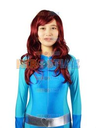 Costume Spandex Movie NZ - Totally Spies! Britney Blue Spandex Superhero Costume Zentai suit free shipping