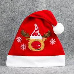 Adults Christmas Hats Canada - Christmas Hats Santa Claus Hats Snowman Snowflake Elk Christmas Cap Mulit Color Adult Kids Hat Xmas Accessories Party Christmas Decorations
