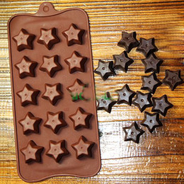 fondant cakes stars Australia - Star Chocolate silicone mold pudding jelly Ice mould baking tools fondant cake decorating tool cake topper bakeware