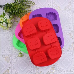 $enCountryForm.capitalKeyWord Canada - Pumpkin Silicone Witch Hat Cake Mold Chocolate Mould 6 Cells Quality Ice Tray Cake Tools FDA Level