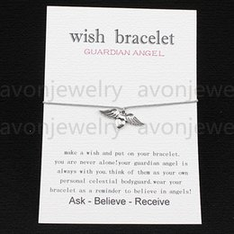 Cards makers nz buy new cards makers online from best sellers 2016 hot sale guardian angel ancient silver hearts love string bracelet gift card with friendship charm wish bracelet maker girls fashion stopboris Choice Image