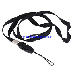 China Cell Phone Charms Straps Black Lanyard Neck Strap for ID Pass Card Badge Mobile Phone Holder Camera cheap cell phone id holder wholesale suppliers