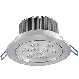 Bathroom Pure White Light Canada - Led DownLights 9x3w LED Ceiling Light Pure Warm White Led Lamp Guarantee 2 Years Dimmable 110v 220v with Driver High Qlity