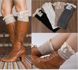 Wholesale DHL Button Down Short Leg Warmers Boot Knit Lace Leg Warmers Boot Cuffs Boot Toppers for Women Winter Warm Boot Socks K5511