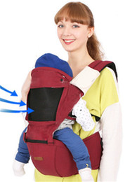 Lumbar Strap Canada - Multi-function Waist Stool The Four Seasons Lumbar Infant Baby Sling Your Shoulders Sitting Straps Hipseat Mochilas