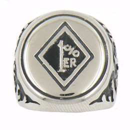 $enCountryForm.capitalKeyWord NZ - STAINLESS STEEL punk vintage mens or womens JEWELRY flame ONE PERCENTER MOTOR CYCLE OUTLAW BIKER RING GIFT FOR BROTHERS SISTERS 14w38