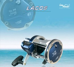 L Wheel Canada - Line winder jigging trolling boat fishing reel coil left hand L-20 30DXwith counter casting drum reel wheel molinete pesca big game