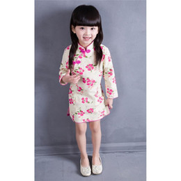 209c53f9a06 2016 Baby Girls Chinese Traditional Dress Spring and Autuam Kids Cheongsam Clothing  Chinese Style Printing Chinese Classic