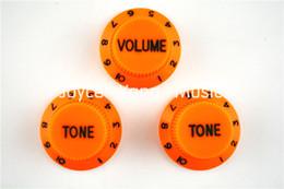 Tono naranja 1 Volume2 Perillas de la guitarra eléctrica de control perillas para Fender Strat estilo libre de la guitarra del envío al por mayor en venta