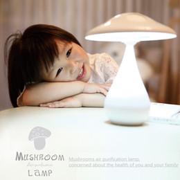 Car Nightlight Canada - Mushrooms air purifier lamp, mushroom innovative new table lamps 5pcs a bag, desk lamps bedside lamps, anion purifier Nightlight
