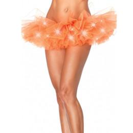 TuTu fancy online shopping - Fashion colors dance LED tutu mini skirt Up Neon Fancy Rainbow Mini Tutu Fancy Costume Adult light Skirt