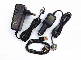 charger for asus transformer Australia - EU Plus Wall AC Charger+Car charger+ USB Date Sync cable For Asus Transformer Prime TF300T TF700T TF201 TF101
