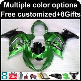 Plastic Katana Canada - 23colors+8Gifts GREEN Body motorcycle cowl for Suzuki GSX650F 2008-2010 08 09 10 GSX650F 2008 2009 2010 ABS Plastic Fairing