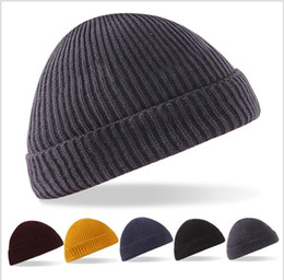 acb96f27bf8 Men and Women s winter beanie hats Stripes Ski Cap Unisex Knitted Wool Beanies  Hat bonnet warm cap LJJK823