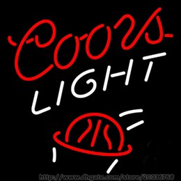 """Coors Light Lighted Signs Canada - Hot Coors Light Basket Ball Neon Sign Handcrafted Custom Real Glass Tube Neon Lamp Game Room Sport Advertising Dsiplay Neon Signs 17""""X14"""""""