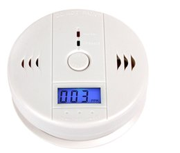 Smoke Detector Tester Canada - Factory Popular CO Carbon Monoxide Poisoning Gas Sensor Smoke Alarm Detector Alarm Detector Tester LCD skyl