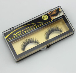 Fur False Eyelashes Canada - False Eyelashes Handmade Natural Long Thick Mink Fur Eyelashes Soft Fake Eye Lash extensions Black Terrier Full Strip Lashes Free Ship DHL