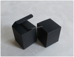 black shipping candy boxes wholesale Canada - Free Shipping Cardboard Folded Favors Box Gift Boxes Candy Package - 6.5x6.5x7.5cm black 100pcs lot LWB0477