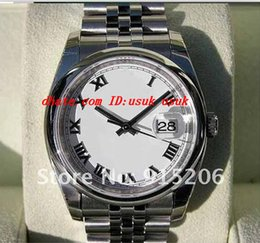 $enCountryForm.capitalKeyWord Canada - Luxury Men's NEW Stainless Steel Bracelet MENS WHITE ROMAN JUB@ILEE 116200 Sapphire Glass Sports And Outdoor Original Box File