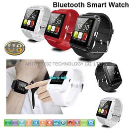 Wholesale U8 Bluetooth Smart Watch U Watches Touch Wrist WristWatch Smartwatch for iPhone S S Samsung S4 S5 Note HTC Android Phone Smartphones