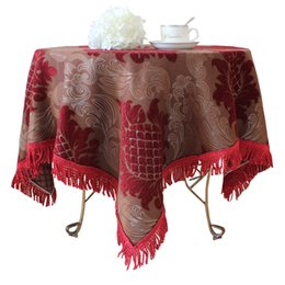 fashion quality rustic dining table cloth coffee table cloth big round table cloth tablecloth chair cover table runner customize