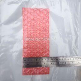 Atacado-9x17cm 200pcs novos envelopes bolha envoltório sacos / anti-estático bolsas / cor vermelha PE Mailer embalagem saco frete grátis em Promoção