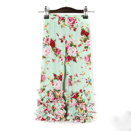 $enCountryForm.capitalKeyWord UK - New Posh Kids Clothing Pants 14 colors to choose Fashion Europe Baby Girls Trousers Hot Sales Children Icing Floral Print Pants