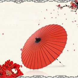 Vintage wedding photography online shopping - 5pcs Fashion Ribs Bamboo Oilpaper Umbrella Vintage Parasol Photography Prop Craft Wedding Paper Umbrellas ZA5171