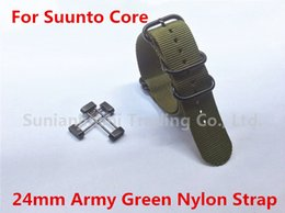 $enCountryForm.capitalKeyWord NZ - New For Suunto Core Watch Band 24MM Army Green Tactical Nylon Zulu 5-Rings Strap +Adapters kits + Lugs Free Shipping -019