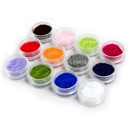 Nail art flock online shopping - Color Velvet Flocking Powder Nail Art Decoration Acrylic Polish Tips Manicure HotSaling