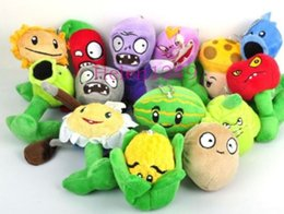 Discount plant vs zombie toys free wholesale sell 2017 The latest 14pcs Plants VS Zombies Soft Plush Toy With Sucker free shipping