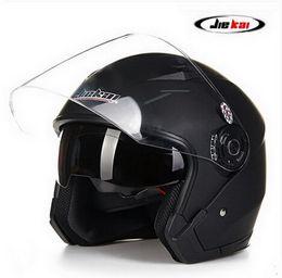 $enCountryForm.capitalKeyWord NZ - 2016 New model JIEKAI 512 half face double lens Harley style motorcycle  motorbike helmet of ABS FREE SIZE 55-60 cm